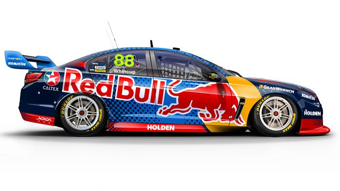 Jamie Whincup's No. 88 Red Bull Racing Holden Commodore.
