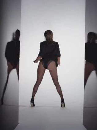 """Work it ... video still of the teaser trailer for """"Booty"""". Picture: YouTube"""