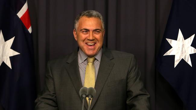 Treasurer Joe Hockey holding a press conference at Parliament House in Canberra. pic By Kym Smith