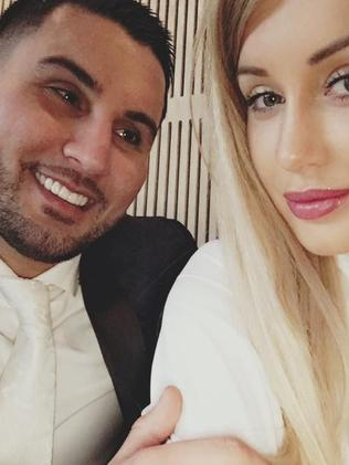 Prolific social media user Salim Mehajer with his then-wife Aysha. Picture: Instagram.