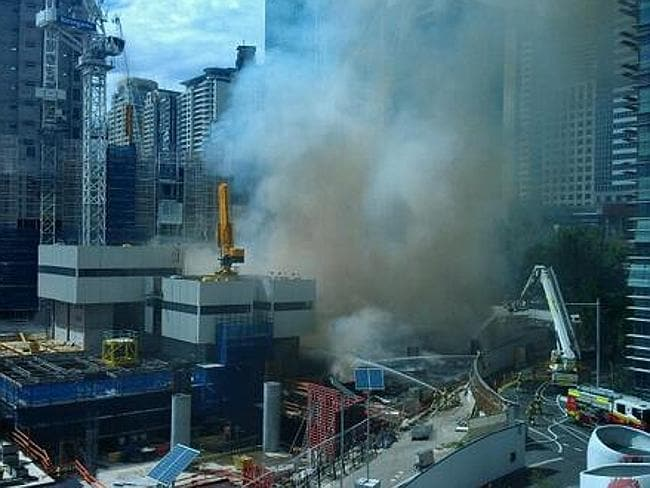 Another view of the Barangaroo blaze.