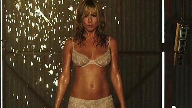 Jennifer Aniston was looking toned and taut when she played a stripper in her film 'We're the Millers'.