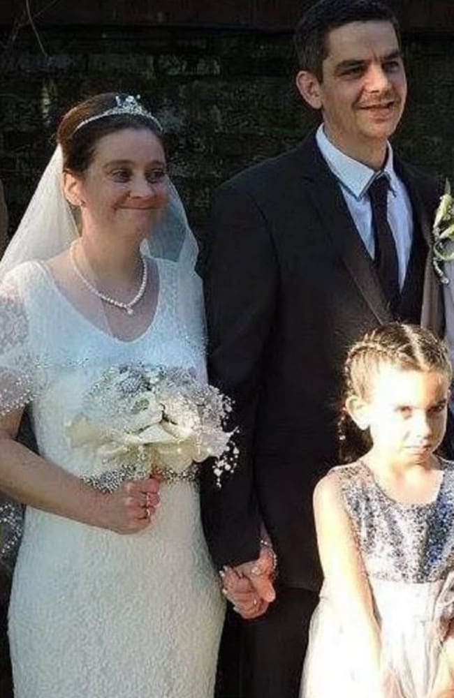 Katie Rough was bridesmaid at the wedding of her parents Paul and Alison Rough two weeks before she was killed. Picture: Facebook