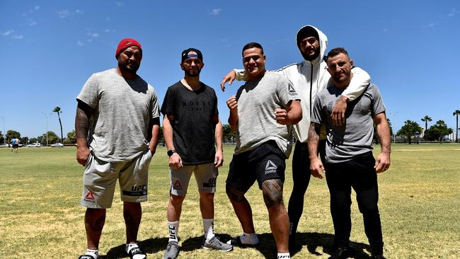Mark Hunt, Damien Brown, Tai Tuivasa, Tyson Pedro and Alexander Volkanovski all have backgrounds in rugby league
