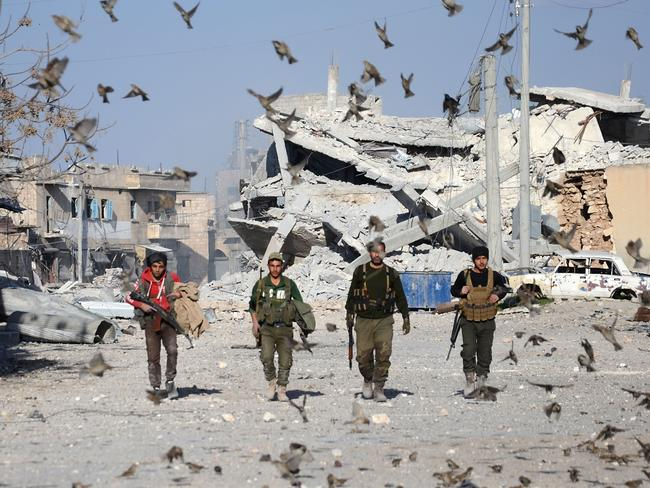 The battle for al-Bab has been the bloodiest of the campaign. Picture: AFP