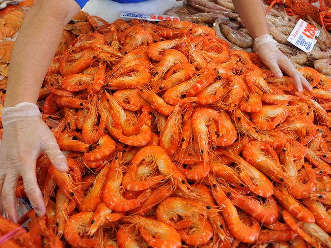 Expect to pay big bucks for prawns this festive season. Picture: Joel Carrett.