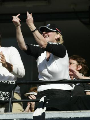 A typical Collingwood fan as seen from the Port seats that day.