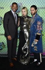 Will Smith, Margot Robbie and Jared Leto attend the Suicide Squad world premiere on August 1, 2016 in New York City. Picture: Getty