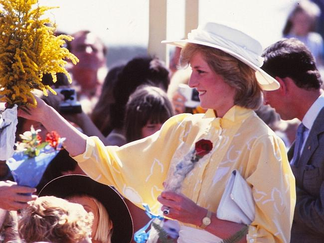 The intense interest in Diana was under estimated and she was overwhelmed. Picture: Ted Holliday