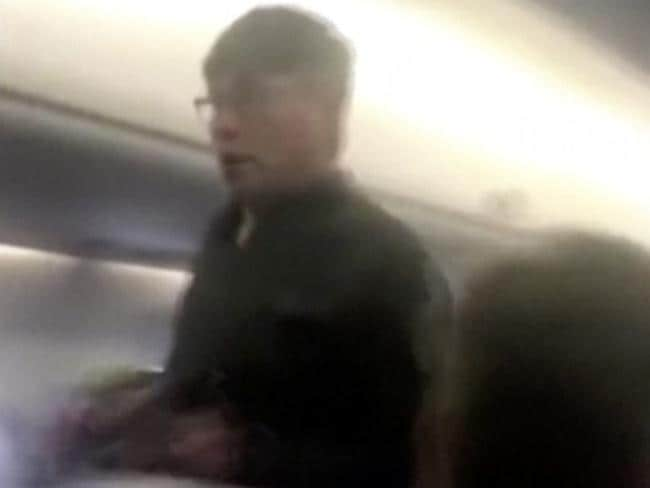 The passenger who was removed from a United Airlines flight in Chicago. Picture: AP
