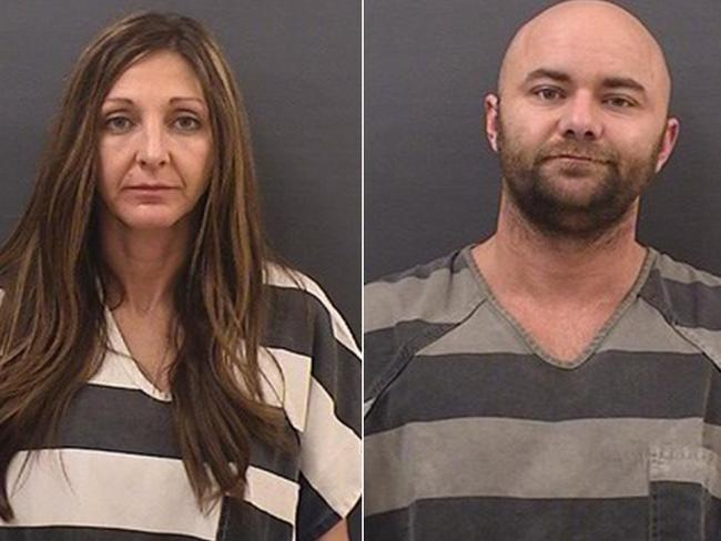 Also charged ... Joni Hardwick (left) and Christopher Hardwick (right) were home at the time of the alleged attack. Picture: Sumner County Jail