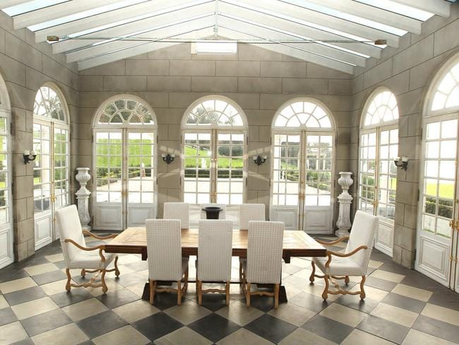 A stunning sunroom at Campbell Point House.
