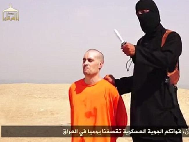 A still from the ISIS video showing US journalist James Foley being beheaded by militants.