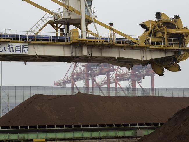 Australia's mining boom was due to then-strong Chinese demand for resources.