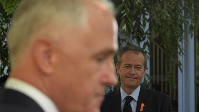 "Bill Shorten says Malcolm Turnbull has to stand up to the ""lunar right"" in his party. Picture: AAP/Lukas Coch"