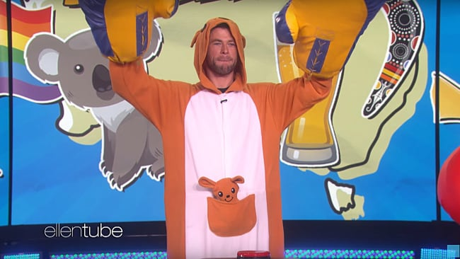 It's how we all dress down here. Picture: TheEllenShow/YouTube Source: https://www.youtube.com/watch?v=ExaoAv95D4I
