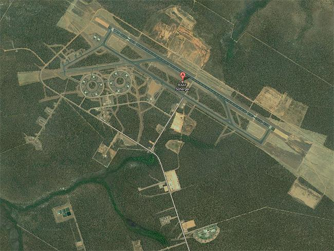 Top Secret sites: RAAF Scherger, advance air force base and detention centre. Far North Queensland. Source: Google Earth