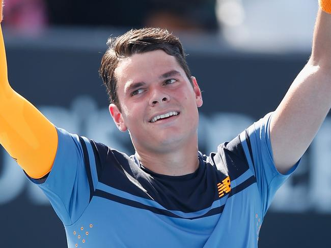 You don't see a lot of Raonic's teeth during matches.
