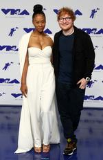 Jennie Pegouskie and Ed Sheeran attend the 2017 MTV Video Music Awards at The Forum on August 27, 2017 in Inglewood, California. Picture: AFP