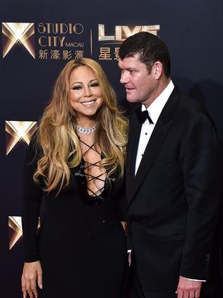 James Packer was engaged to US singer Mariah Carey before a public breakup. Picture: AFP / Philippe Lopez.