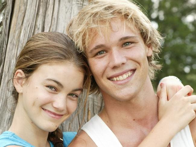 Lincoln Lewis with  <i>Home and Away </i>co-star Charlotte Best. Picture: Supplied