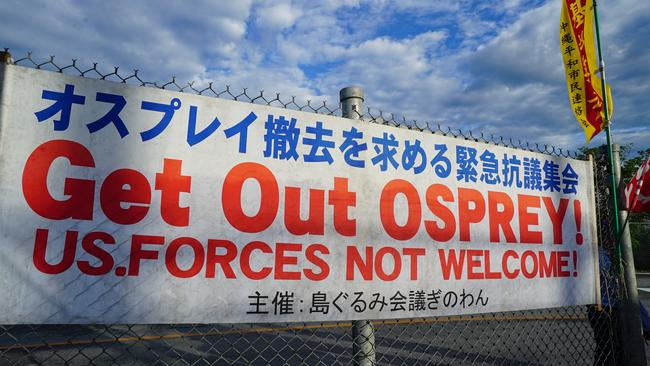 The Okinawans are challenging and resisting the greatest military power in the world. Picture: SBS