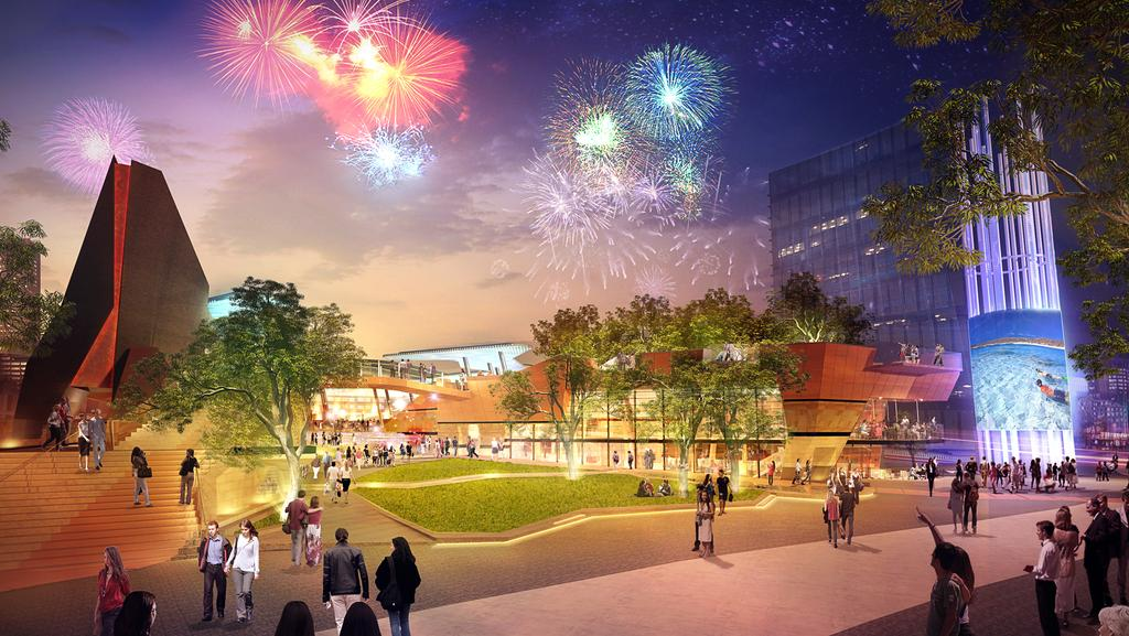 Plans for what Yagan Square will look like when it is complete. Picture: AAP Image/Metropolitan Redevelopment Authority