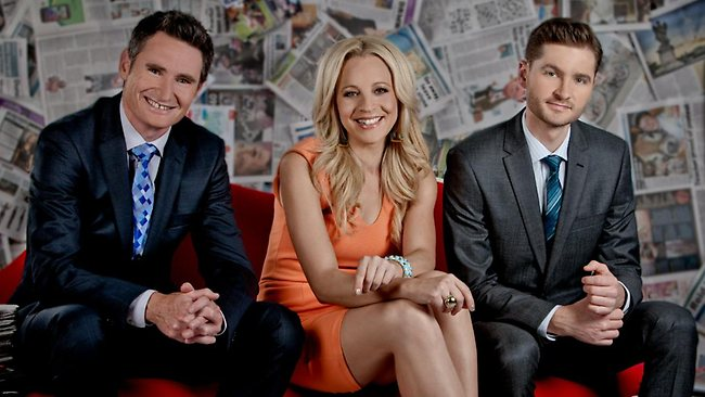 The Project's Dave Hughes, Carrie Bickmore and Charlie Pickering Picture: Channel 10