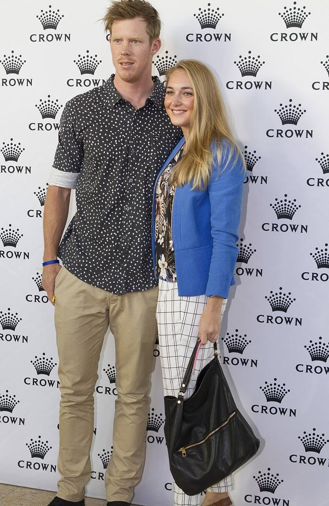 Riewoldt and his long-term partner Carly Ziegler.