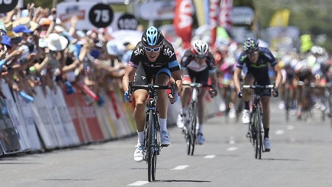 Geraint Thomas wins Stage 2