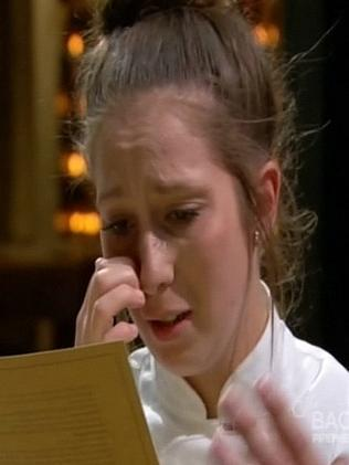 Struggling ... Laura failed to read her recipe correctly in the third challenge.