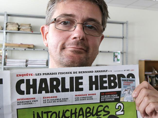 Controversial ... late former Charlie Hebdo editor Stephane Charbonnier, who died in a terror attack at the magazine's offices. Picture: AP Photo/Michel Euler