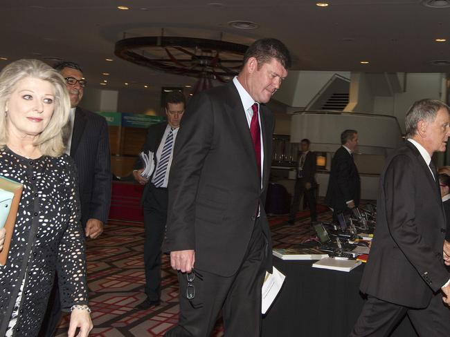Run of bad luck ... James Packer arrives at the Crown AGM in Perth.