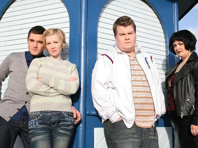 Matthew Horne, Joanna Page, James Corden and Ruth Jones in  <i>Gavin and Stacey</i>. Picture: Supplied