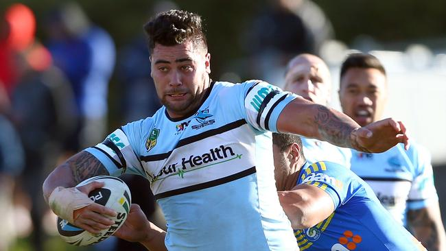 Andrew Fifita was one of the standouts on a disappointing afternoon for Cronulla.