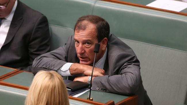 Feeling the heat ... Mal Brough in Parliament today. Picture: Kym Smith