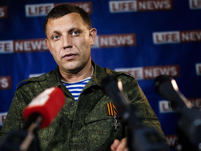 "Pro-Russia ... Alexander Zakharchenko, prime minister of the self-proclaimed Donetsk People's Republic, told Russian media on Saturday that the insurgents were ""preparing a second large-scale offensive."" Picture: Dimitar Dilkoff/AFP"