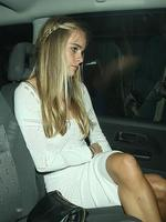 Model Cressida Bonas seen leaving La Salon club in Mayfair, London, 2 minutes before Prince Harry. Picture: Splash News