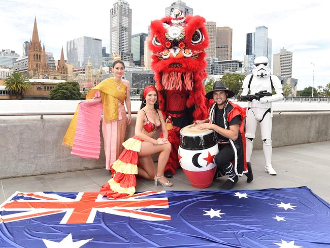 Australia day 2017 melbourne cbd and suburb events to celebrate a preview of the australia day parade with participants from the melbourne thai community chinese masonic society lion dance team lonjas de melbourne negle Images