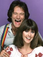 "MORK AND MINDY : The character of Mork, an alien from the planet of Ork, became so popular from an episode of ""Happy Days"" that it was spun-off into this series starring Robin Williams in the lead role (his first major acting break). The misfit alien was sent to study Earthlings by his fellow Orkans. Landing in a giant eggshell, near Boulder, Colorado, he was befriended by Mindy McConnell (Pam Dawber), who helped him adjust to Earth's strange ways. Picture: Getty"