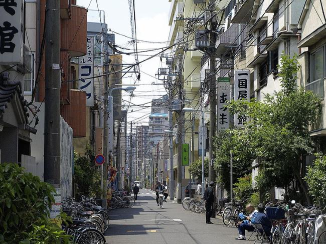 An alley in the slums known as Sanya in Tokyo. Picture: Google Maps
