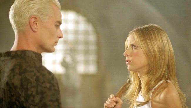 James Marsters and Sarah Michelle Gellar.