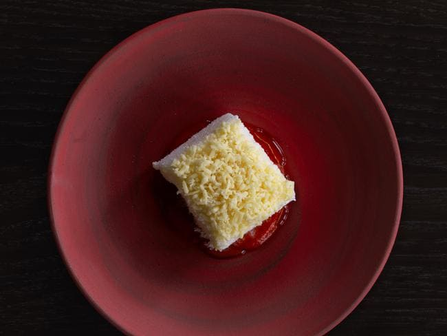 The rum lamington. Picture: Jason Lucas