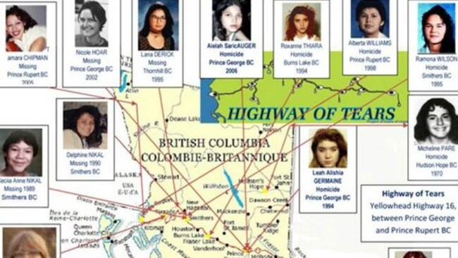Highway Of Tears Canada Women Have Gone Missing For Years - Highway of tears canada map