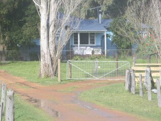 The Nannup house where the missing four lived. Photo: News Ltd.