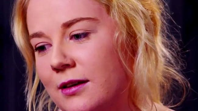Sainsbury claims her interview was manipulated. Picture: Channel 9.