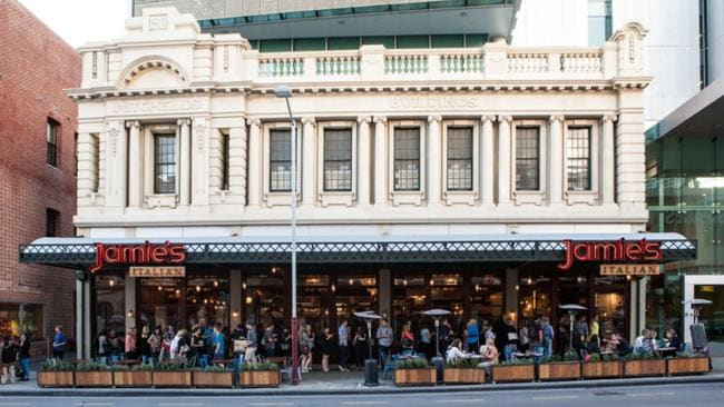 Jamie oliver buys the six jamie s italian outlets in australia for Food bar perth