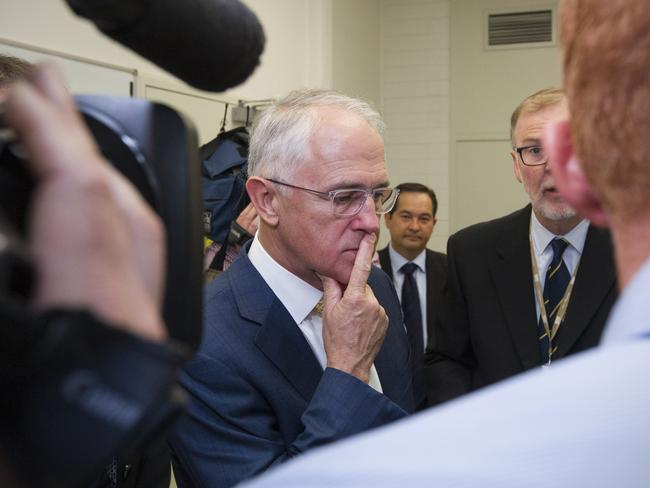 Pondering election timing: Prime Minister Malcolm Turnbull in Adelaide today. Picture: AAP Image/Ben Macmahon