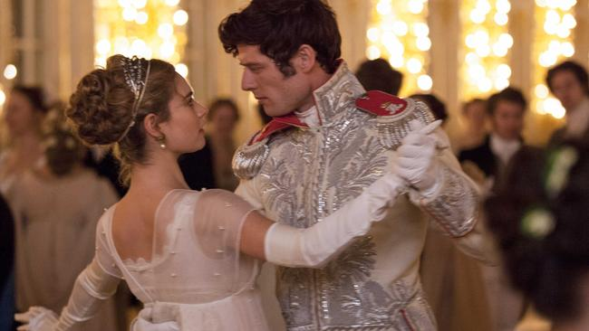 All's fair in love and war ... Lily James and James Norton shine in the glossy period drama.