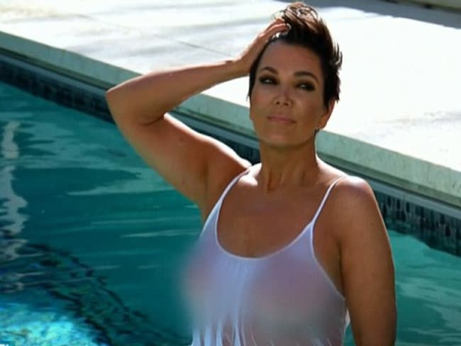 Kris Jenner mortified her daughters with this photo shoot in the pool.